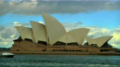 Sydney Opera House and Ship 01 Stock Footage