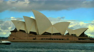 Stock Video Footage of Sydney Opera House and Ship 01