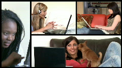 Stock animation showing radiant women using a laptop Stock Footage