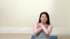 Assertive woman doing fitness exercises - stock footage