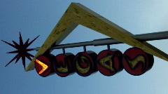 "Old ""Vegas"" neon sign in Las Vegas Stock Footage"