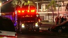 Fatal Apartment Fire KC 2 - stock footage