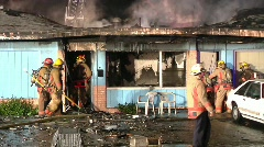 Duplex Fire 3 Stock Footage