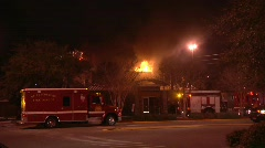 Restaurant Fire 11 Stock Footage