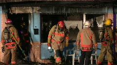 Duplex Fire 2 Stock Footage