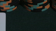 Blackjack / Big Slick Cards with Casino Chips Stock Footage
