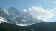 Alpine weather time lapse Stock Footage