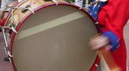 American Revolutionary War Drummer Boy Stock Footage