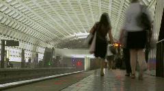 Stock Video Footage of Rail Station platform (Time Lapse)