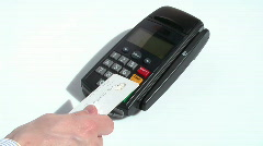HD 1080 - Credit Card Terminal scene 05 Stock Footage