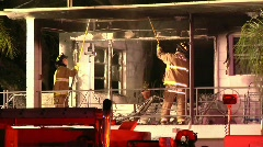 Fatal Apartment Fire KC Stock Footage