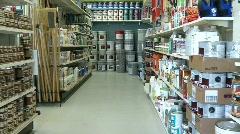 Paint Aisle Stock Footage