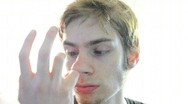 Stock Video Footage of Picking Nose