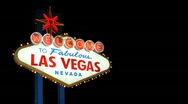Welcome to Fabulous Las Vegas Sign with Luma Matte Stock Footage