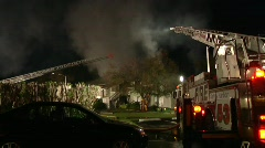 Apartment Complex Fire 10 Stock Footage