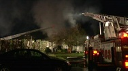 Stock Video Footage of Apartment Complex Fire 10