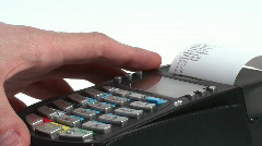 HD 1080 - Credit Card Terminal scene 06 Stock Footage