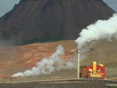 Stock Video Footage of Geothermal Power Plant Close Up