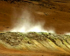 Steaming Wasteland Crater Stock Footage