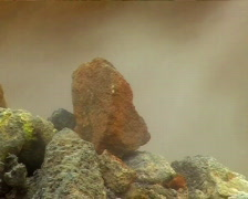 Steaming Rock Vent Stock Footage