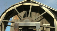 Water wheel at old mill Stock Footage