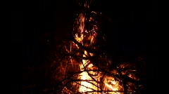Fire burst at night(Slow Motion) - stock footage