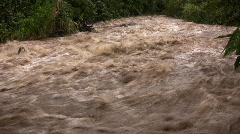 Rio Mindo, Ecuador in flood - stock footage