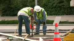 Broken Water Main - stock footage