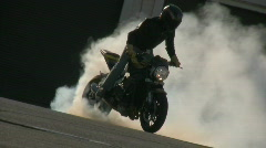 Motorcycle Trick Rider Stock Footage