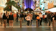 Las Vegas downtown traffic crowd P HD 6872 Stock Footage