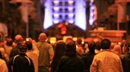 Las Vegas night crowd P HD 6861 Stock Footage