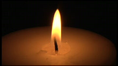 Burning Candle light Flame Close Up Stock Footage