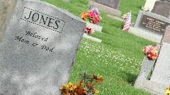 Graveyard - stock footage