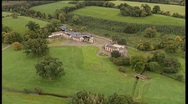 Stock Video Footage of Aerial of Old farm