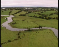 Aerial shot of river Stock Footage