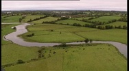 Stock Video Footage of Aerial shot of river