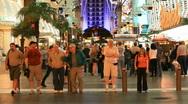 Las Vegas night downtown crowd P HD 6872 Stock Footage