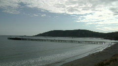 Avila Beach, California Pier Time Lapse with Clouds Stock Footage
