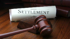 Legal settlemment Stock Footage