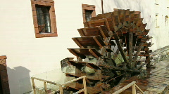 Watermill in Prague - stock footage