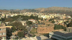 Chios town & fort  Stock Footage