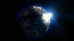 Planet Earth spinning and looped animation - stock footage