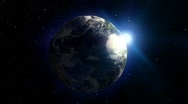 Planet Earth spinning and looped animation Stock Footage