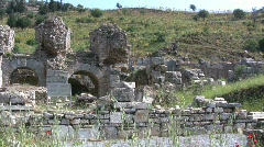 Ephasus Pans Roman ruins Stock Footage