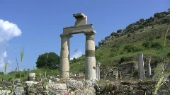 Ephasus columns of a Greco-Roman ruin Stock Footage