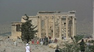 Stock Video Footage of Athens Acropolis the Erechteum