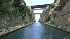 Corinth canal from a boat Stock Footage