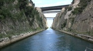 Stock Video Footage of Corinth canal from a boat