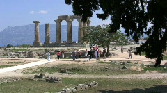 Greek Antiquities Temple of Apollo at Corinth Stock Footage