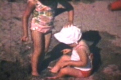 Kids At The Beach (1969 Vintage 8mm film) Stock Footage